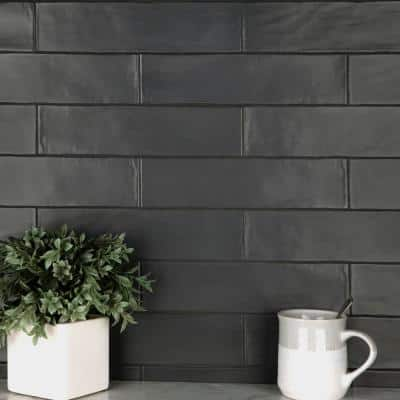 Chester Matte Nero 3 in. x 12 in. Ceramic Wall Subway Tile (5.93 sq. ft. / Case)
