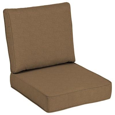 24 x 24 Sunbrella Cast Teak Outdoor Lounge Chair Cushion