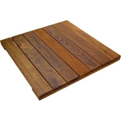WiseTile 1.6 ft. x 1.6 ft. Solid Hardwood Deck Tile in Exotic Ipe