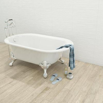 Aqua White 3D 12 in. x 22 in. Ceramic Wall Tile (410.56 sq. ft./pallet)