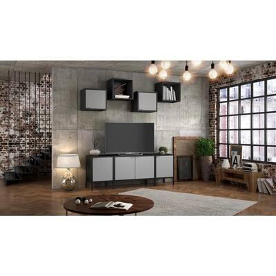 Smart Steel 4-Shelf Wall Mounted Garage Cabinet in Espresso (14 in W x 13 in H x 11 in D)