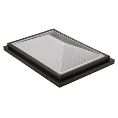 Prismatic 2 ft. x 3 ft. Fixed Curb-Mounted Double Hip Skylight
