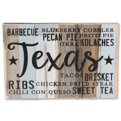 """""""Texas Foodie Sign"""" Reclaimed Wood Decorative Sign"""