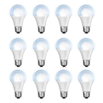 60-Watt Equivalent Daylight (5000K) A19 Dimmable Wi-Fi LED Smart Light Bulb (12-Pack)