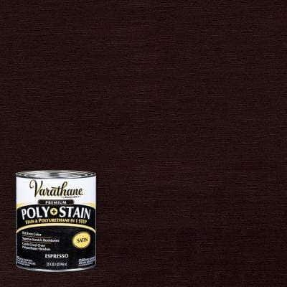 1 qt. Espresso Satin Oil-Based Interior Stain and Polyurethane