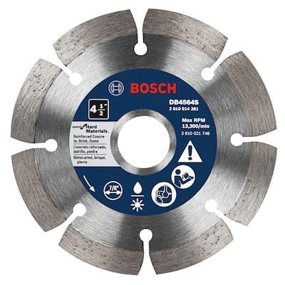 4-1/2 in. Premium Plus Hard Diameter Saw Blade for Cutting Concrete, Granite, or Brick