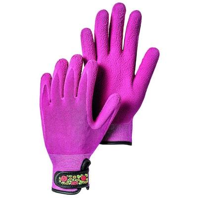 Garden Bamboo Size 8 Spandex Fuchsia Gloves
