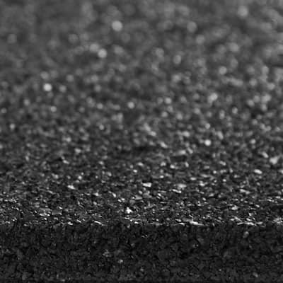Envirotile 16 in. x 16 in. Square Black Reversible Brickface/Flat Profile Rubber Paver
