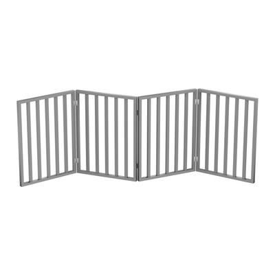 72 in. x 24 in. Wooden Freestanding Gray Pet Gate