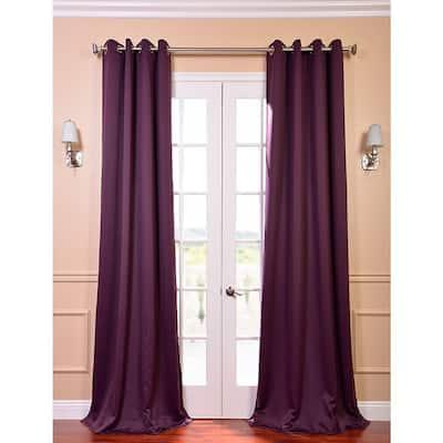 Aubergine Grommet Blackout Curtain - 50 in. W x 84 in. L