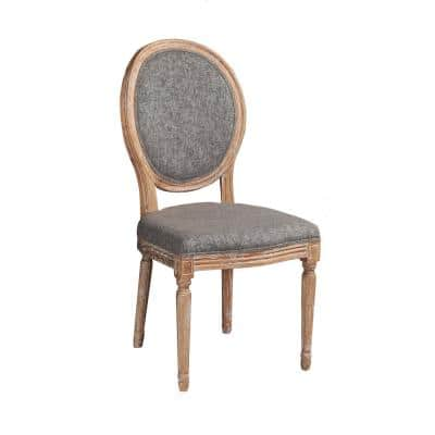Maria Charcoal Oval Back Chair