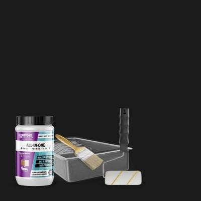 1 qt. Licorice Furniture Cabinets Countertops and More Multi-Surface All-in-One Interior/Exterior Refinishing Kit