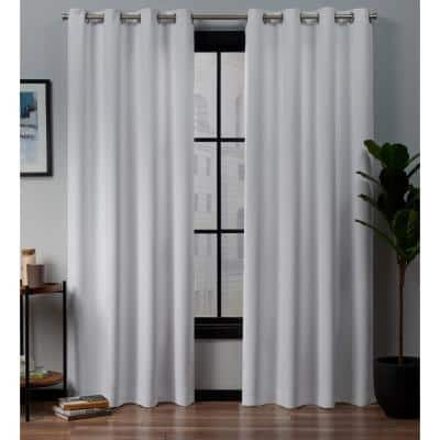 White Thermal Grommet Blackout Curtain - 52 in. W x 84 in. L (Set of 2)