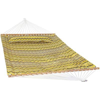 10.6 ft. Yellow and Gray Chevron Spreader Bar Hammock Bed
