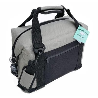 20.3 Qt. Light Nylon Soft Cooler with Strap in Silver (12-Pack)