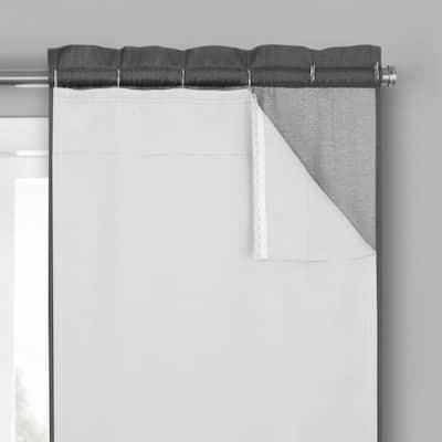 White Rod Pocket Blackout Curtain - 54 in. W x 80 in. L