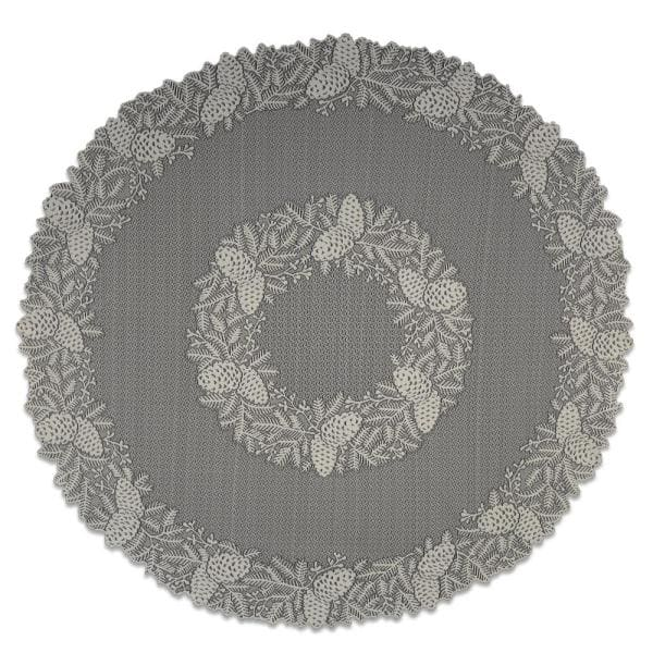 Heritage Lace Highland Pine 42 In W X, Round Lace Table Toppers