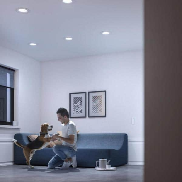 """Philips Hue White Ambiance LED Smart Retrofit 4/"""" Recessed Downlight"""