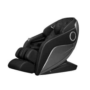 Opulence Black Faux Leather Reclining Luxury Massage Chair