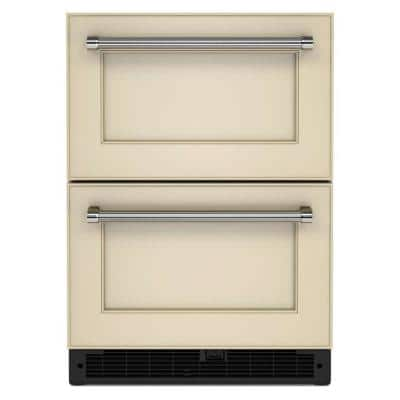 24 in. 4.44 cu. ft. Undercounter Double Drawer Refrigerator in Panel Ready