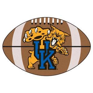 NCAA University of Kentucky UK Logo Brown 2 ft. x 3 ft. Specialty Area Rug