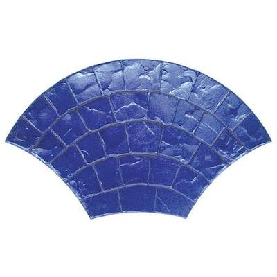 26 in. x 46 in. European Fan Cobble Texture Mat Concrete Stamp