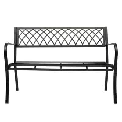 Leisure 47 in. Iron Outdoor Bench