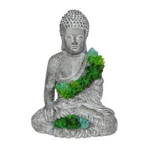 Solar Succulent Buddha Statue