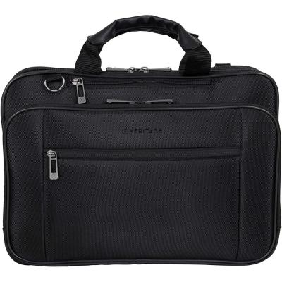 Black Dual Compartment Polyester 15.6 in. to 17 in. Laptop & Tablet Business Case Computer Portfolio Bag Collection
