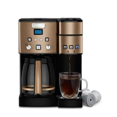 Coffee Center 12-Cup Copper Stainless Coffee Maker and Single-Serve Brewer
