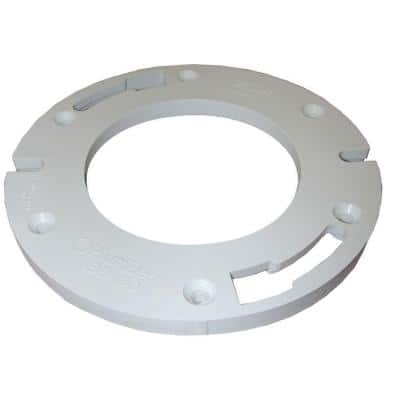 7 in. D x 1/2 in. Plastic Thick Closet Flange Extender in White
