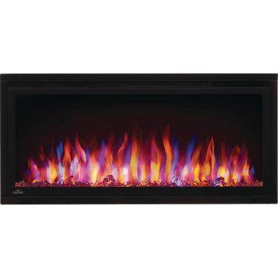Entice 36 in. Wall-Mount Electric Fireplace in Black