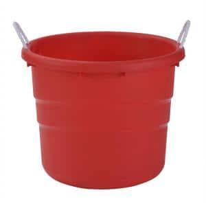12-Gal. Utility Storage Bin in Red (2-Pack)