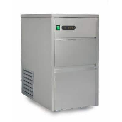 44 lb. Freestanding Automatic Ice Maker in Stainless Steel
