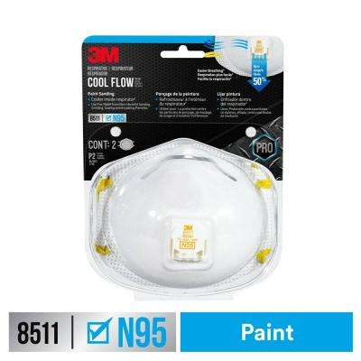 8511 N95 Respirator with Cool Flow Valve (2-Pack)