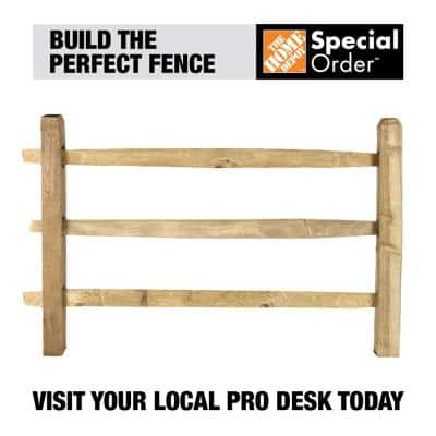 3 in. x 6 in. x 7 ft. Pressure-Treated Pine 3-Hole Fence Line Post