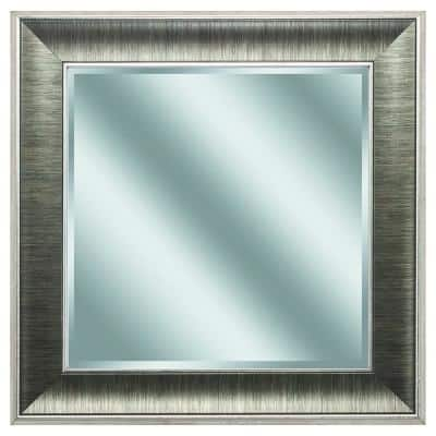 Victoria 16 in. x 16 in. Classic Square Framed Gray Vanity Mirror