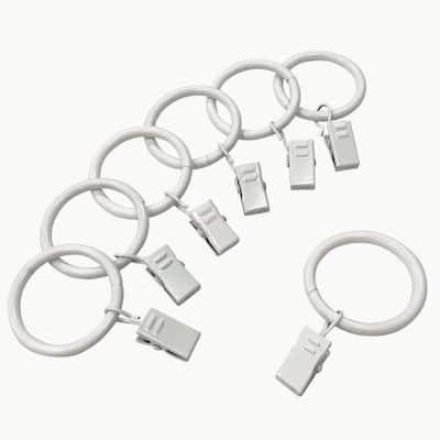 1-1/4 in. Clip Rings in White (7-Pack)