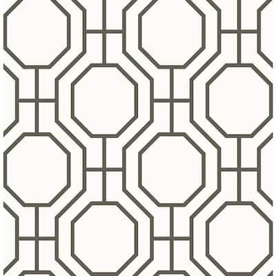Circuit Black Modern Ironwork Black Wallpaper Sample