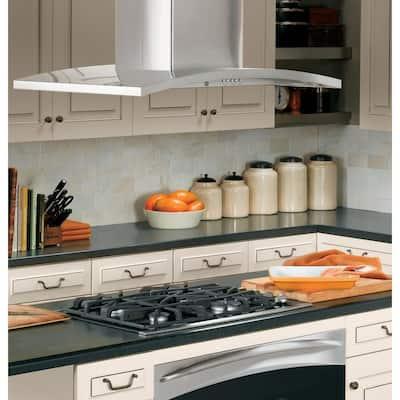 Profile 36 in. Designer Island Range Hood with Light in Stainless Steel