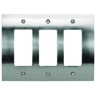 Zephyr 3 Rocker Metal Wall Plate - Brushed Nickel