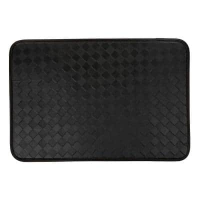 Checkered Boxes 20 in. X 30 in. Black Anti-Fatigue Mat