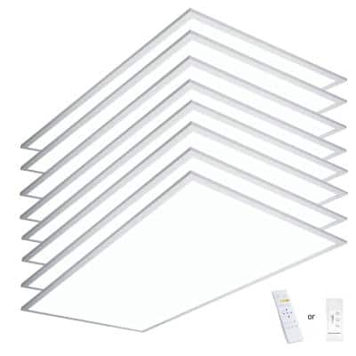 2 ft. x 4 ft. Integrated LED Panel Light Troffer Backlit 6500LM 630W Equivalent White Dim CCT Color Changeable (8-PC)