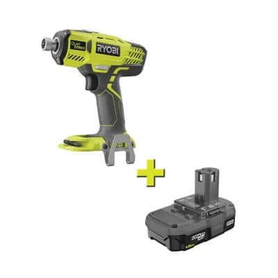 ONE+ 18V Cordless 1/4 in. Hex QuietSTRIKE Pulse Driver with 1.5 Ah Compact Lithium-Ion Battery