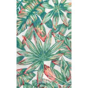 Lindsey Country Floral Multi 8 ft. x 10 ft. Indoor/Outdoor Area Rug