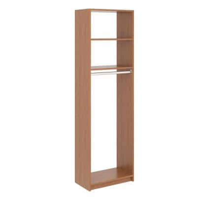 14 in. D x 25.375 in. W x 84 in. H Amber Medium Hanging Tower Wood Closet System