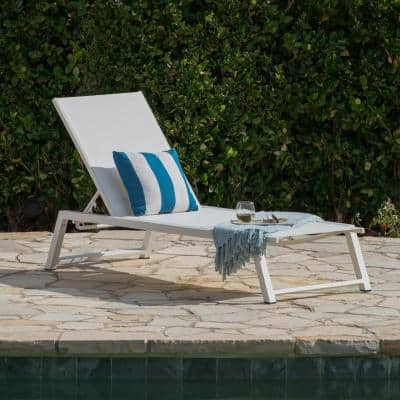 Myers White Aluminum Adjustable Outdoor Chaise Lounge