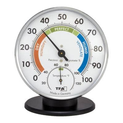 TableStand Chrome Thermo-Hygrometer