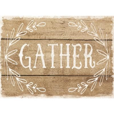 MHF Home Gather Brown 18 in. W x 13 in. L Polypropylene Placemat Set (4-Pack)