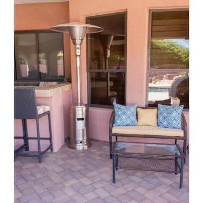 45,000 BTU Stainless Steel Propane Gas Commerical Patio Heater